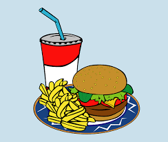 hamburger and drink