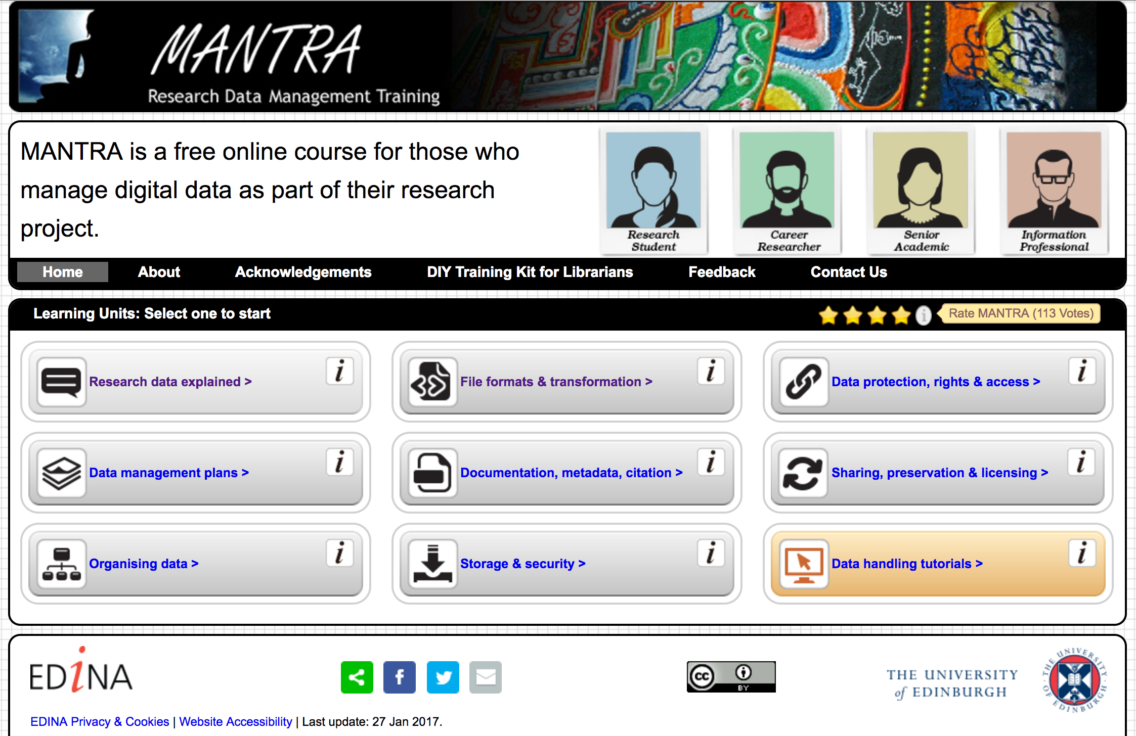 MANTRA Research Data Management Training