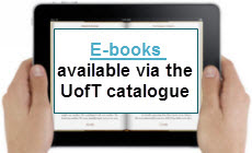 E-books available via the U of T catalogue