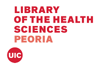 UIC's Library of the Health Sciences - Peoria logo