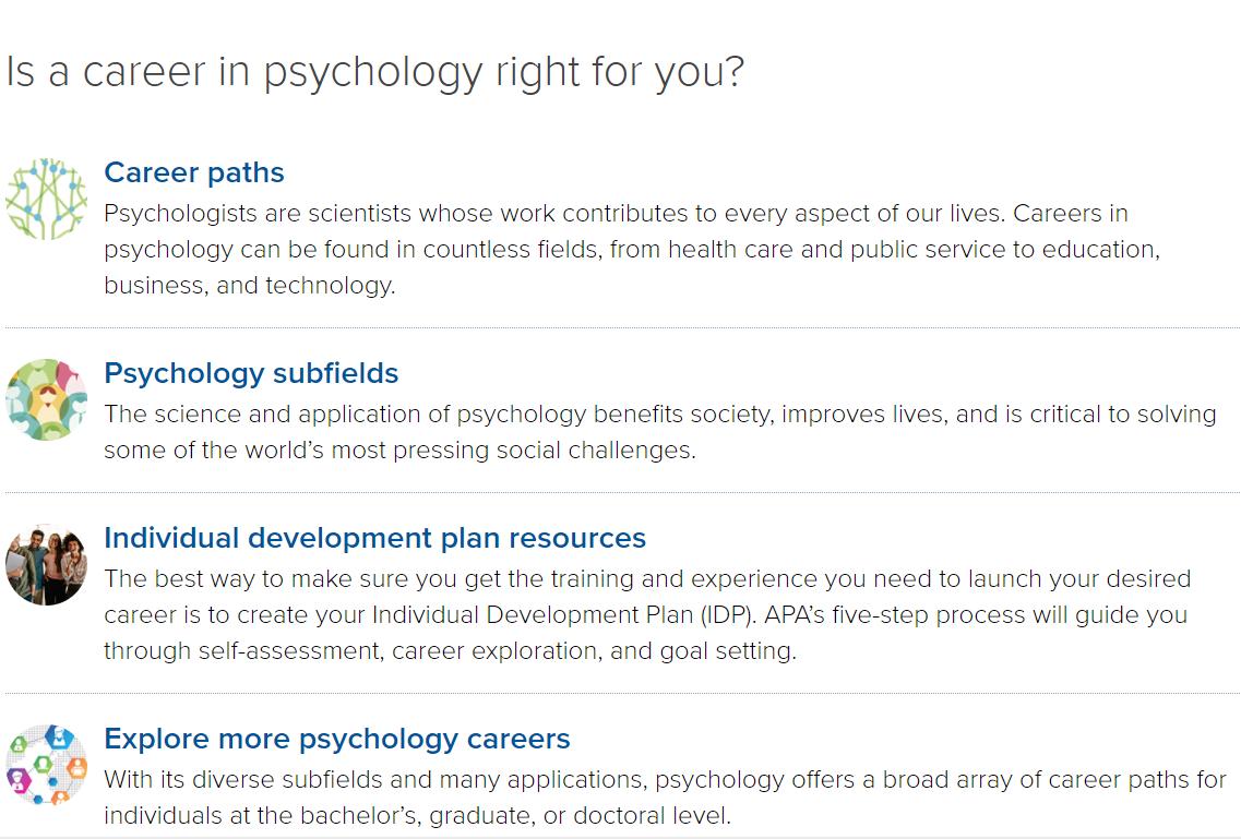APA Education and Career link