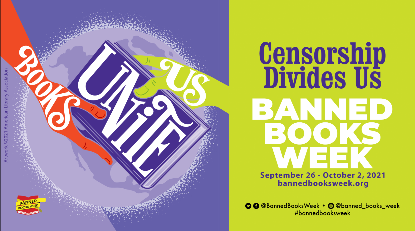 Logo for Banned Books Week