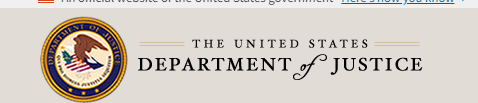 Logo of Department of Justice