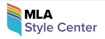 MLA style center logo