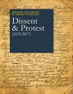 Cover of Defining Documents in American History: Dissent and Protest