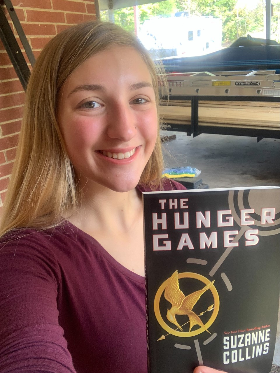 Lacie Gilbert with the Hunger Games