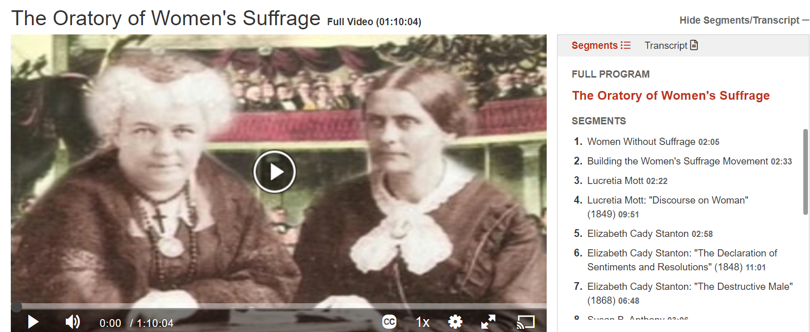 oratory of Women's Suffrage