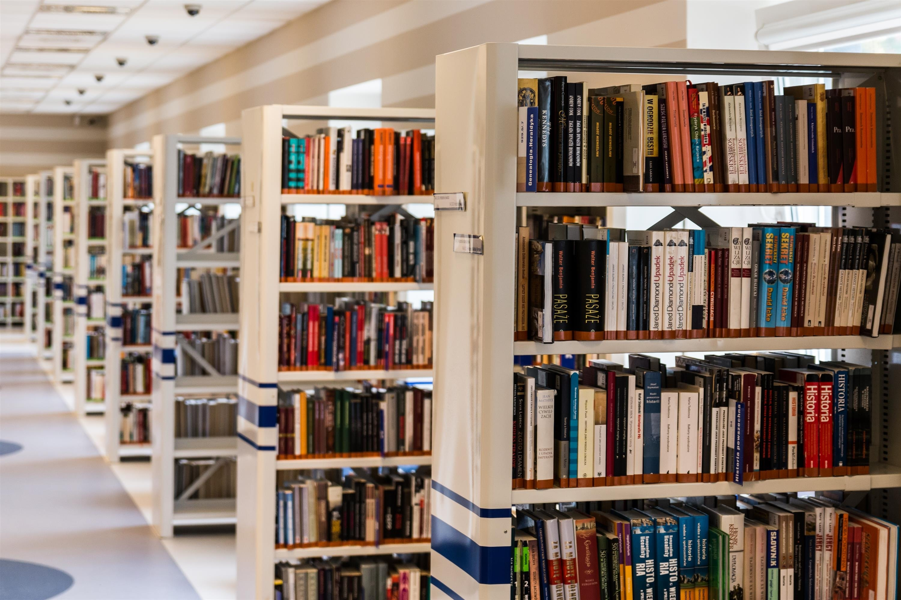 bookcases in Library