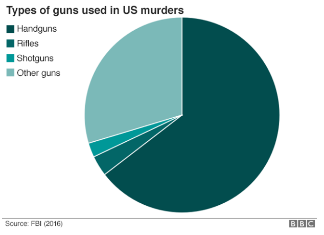 Types of Guns used in US Murders