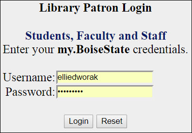 faculty/staff request screen shot
