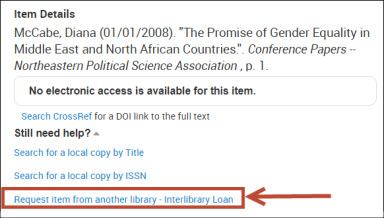 interlibrary loan example