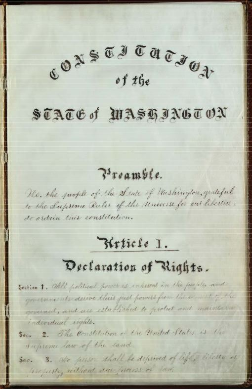 1889 constitution, first page
