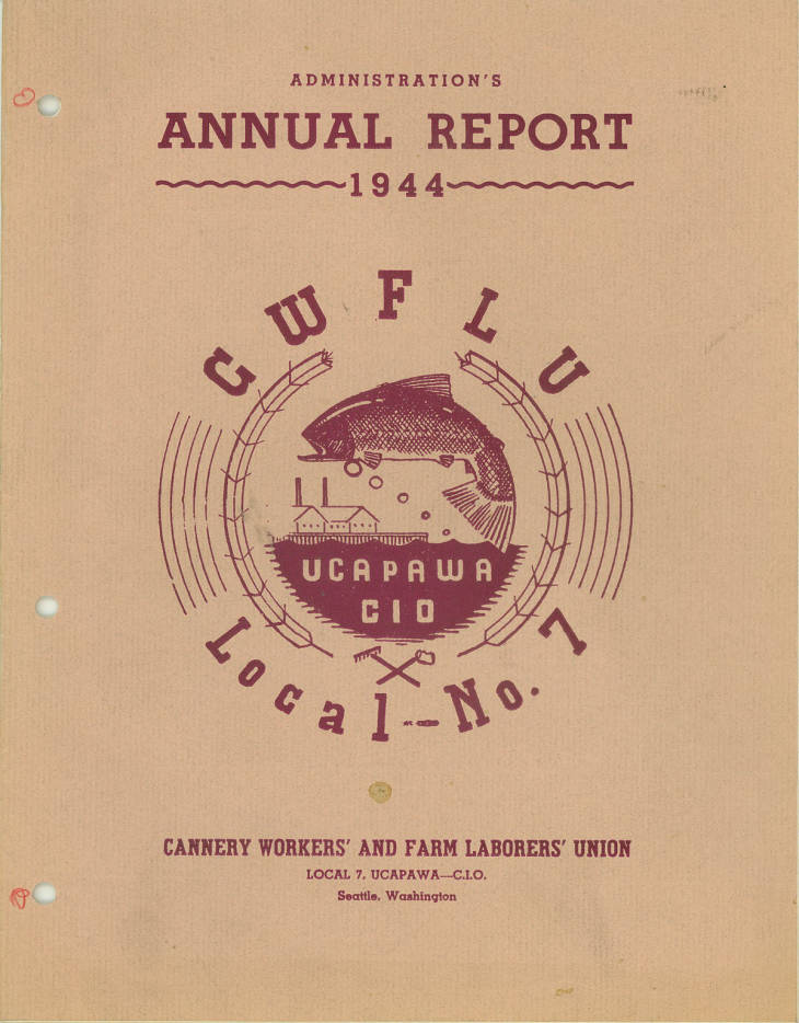 Cannery Workers Annual Report 1944 cover