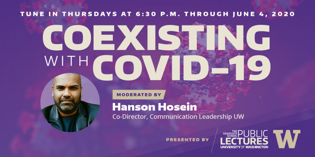 Banner for lecture series Coexisting with COVID-19