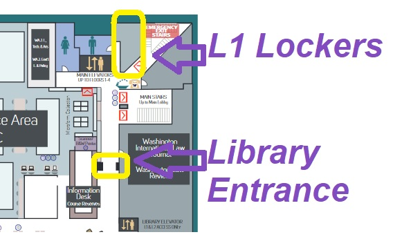floor plan showing L1 lockers