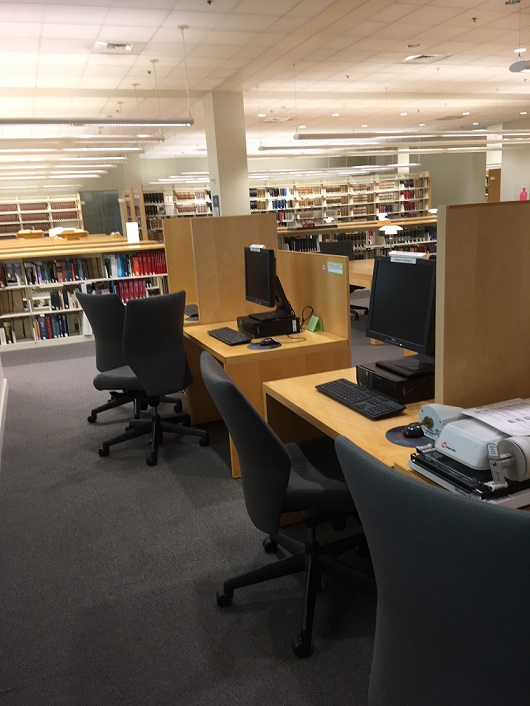 Library Reference Area with PCs