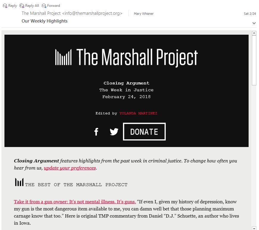 Marshall Project sample