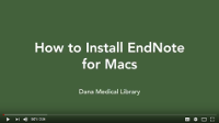 How to Install EndNote for Macs