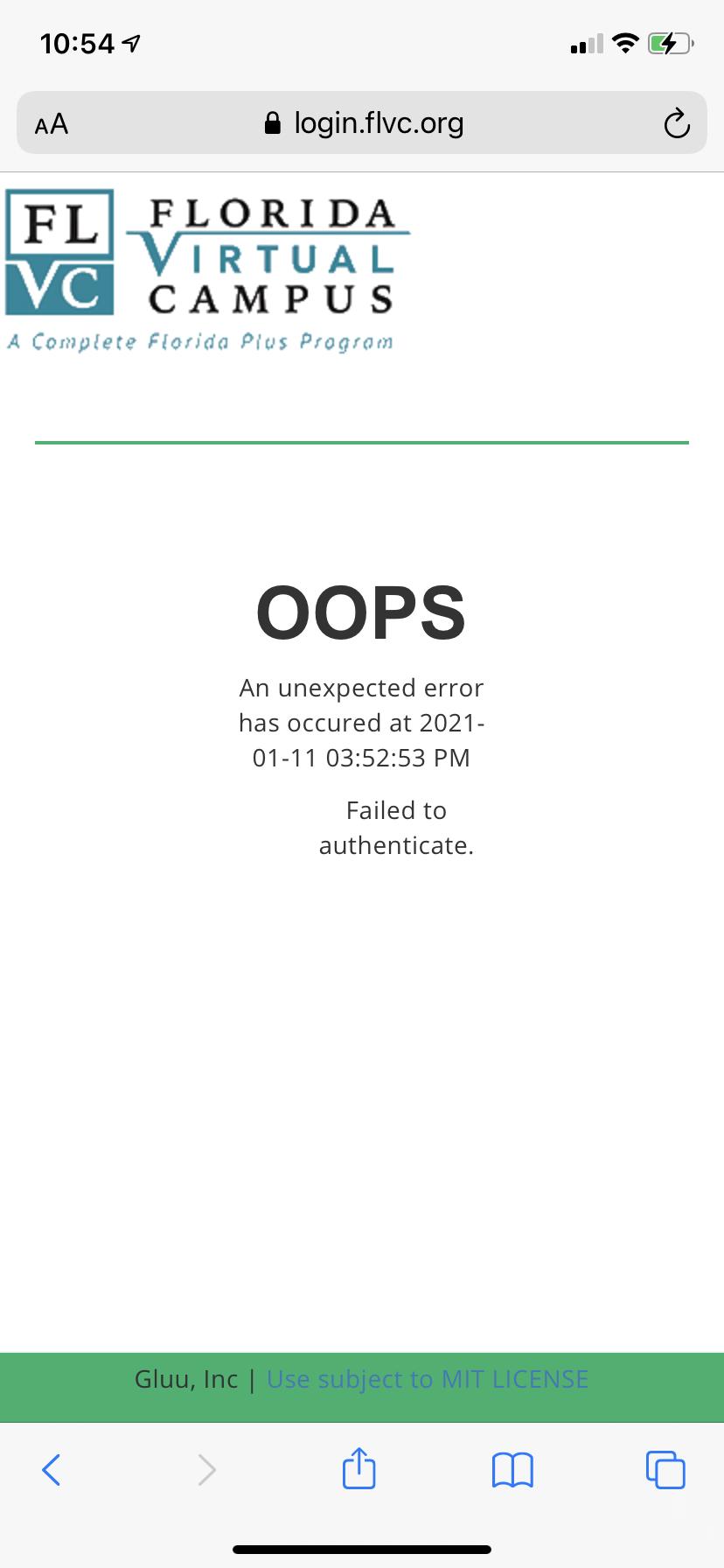 oopserror