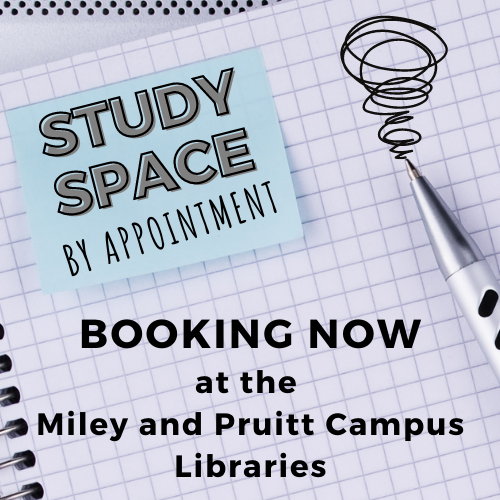 Study Space by Appointment: Click to Book Now