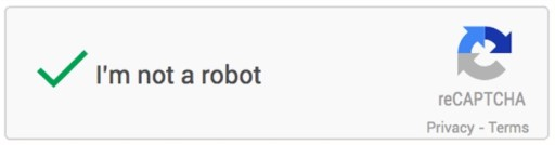 picture of the I'm not a robot captcha checked with a green check