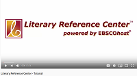 Video cover of Literary Reference Center by EBSCO