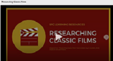 Video of Researching Classic Films