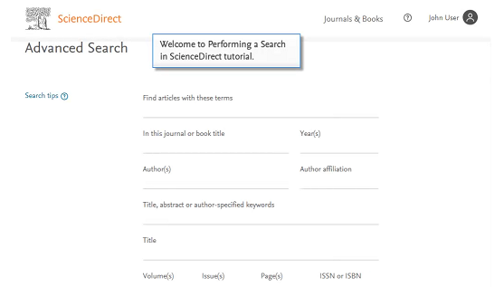 ScienceDirect database