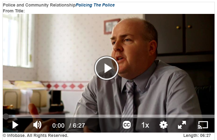 "still image of video ""police and community relaionship"""