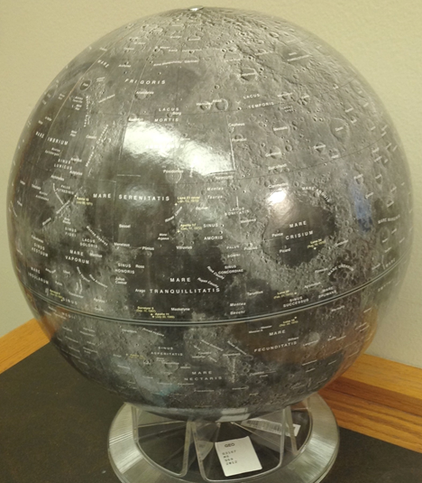Moon Shaded Relief globe