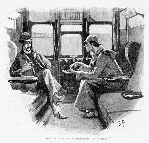 Sherlock Holmes and Doctor Watson. Published in The Adventure of Silver Blaze, which appeared in The Strand Magazine in December 1892