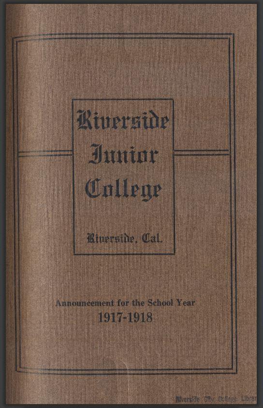 1917-1918 Riverside City College Catalog