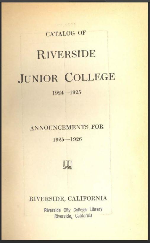 1925-19266Riverside City College Catalog