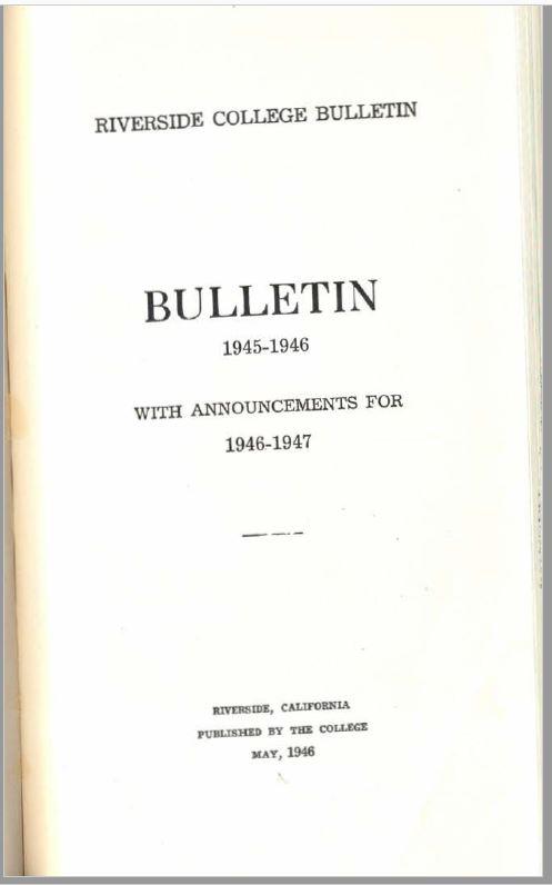 1946-1947 Riverside City College Catalog