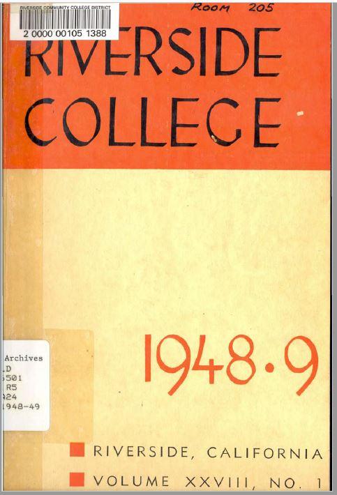 1948-1949 Riverside City College Catalog