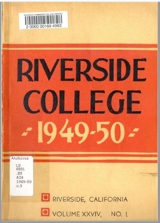 1949-1950 Riverside City College Catalog
