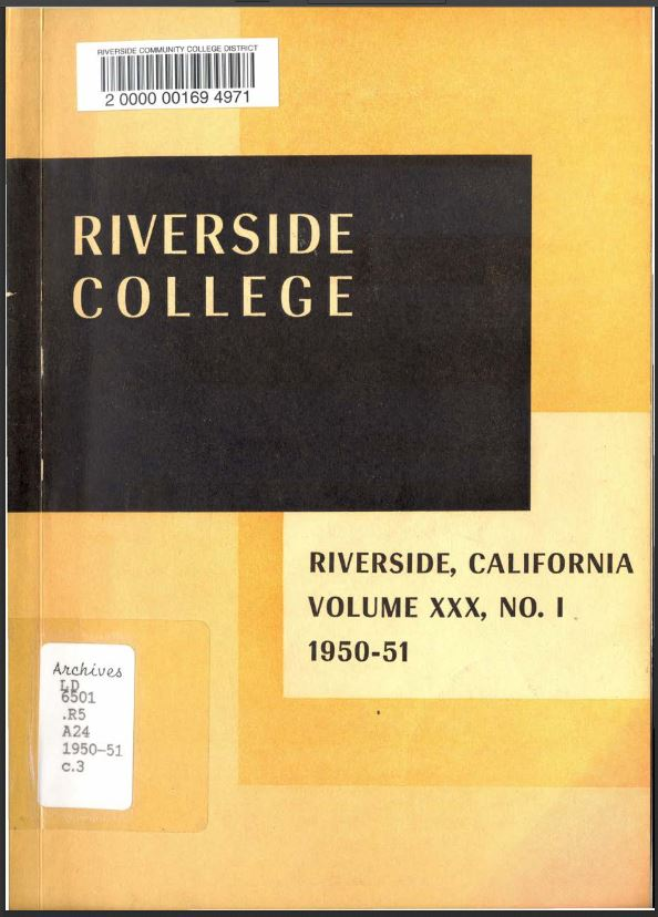 1950-1951 Riverside City College Catalog