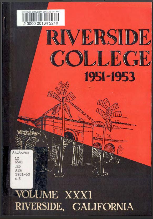 1951-1953 Riverside City College Catalog