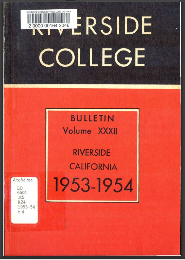 1953-1954 Riverside City College Catalog