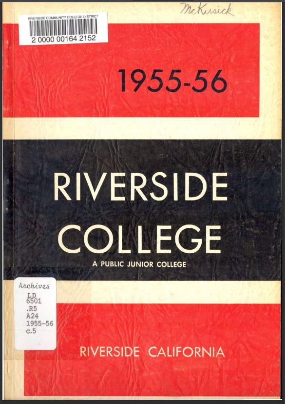 1955-1956 Riverside City College Catalog