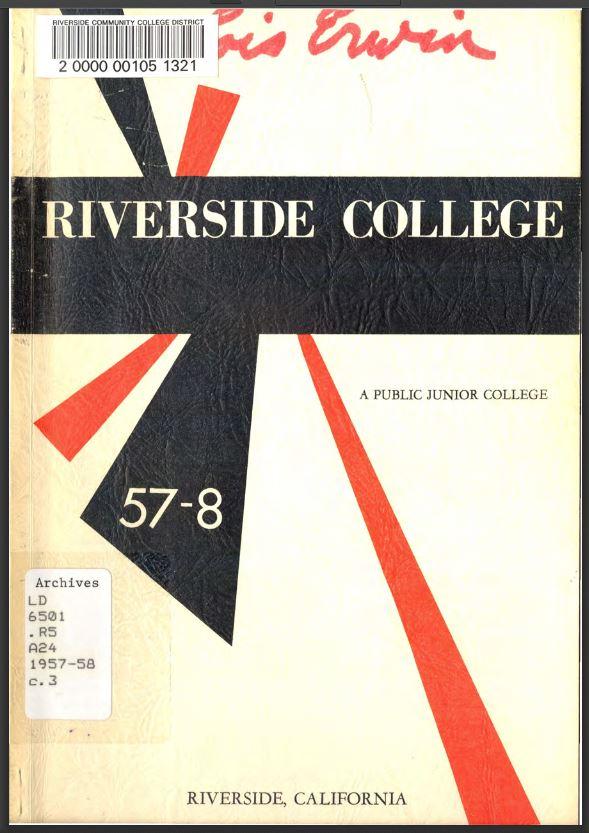 1957-1958 Riverside City College Catalog