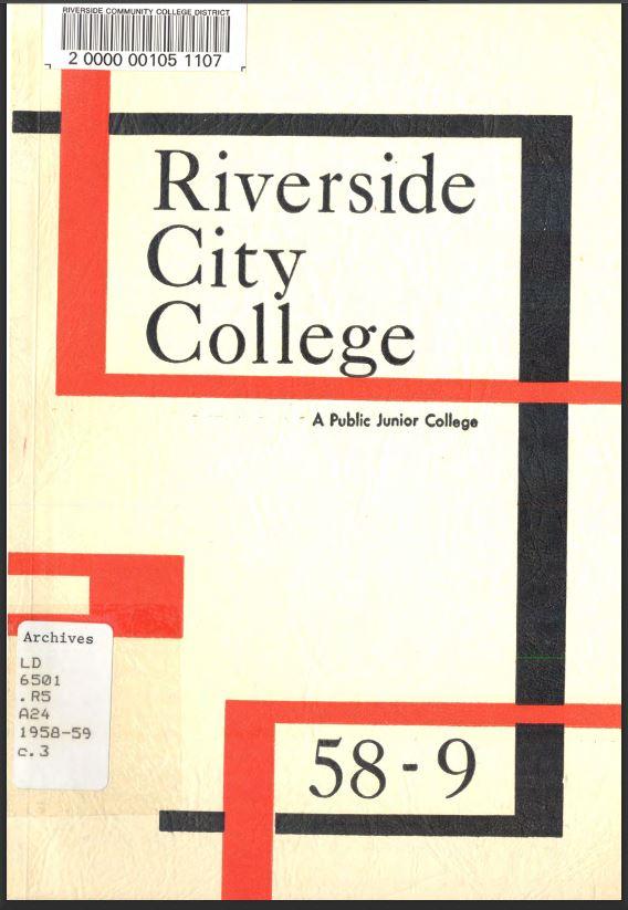 1958-1959 Riverside City College Catalog