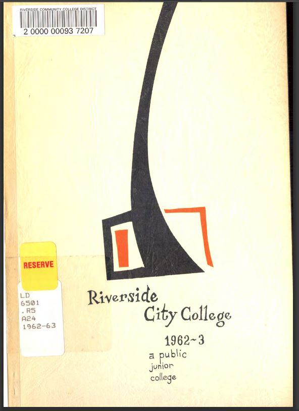 1962-1963 Riverside City College Catalog