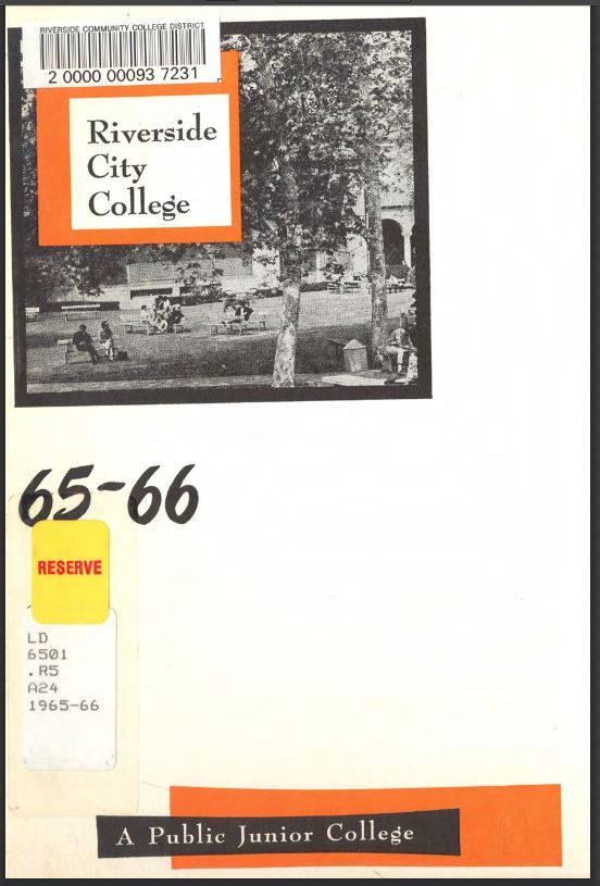 1965-1966 Riverside City College Catalog