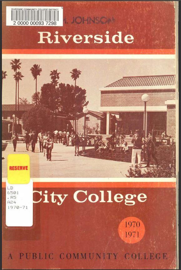 1970-1971 Riverside City College Catalog