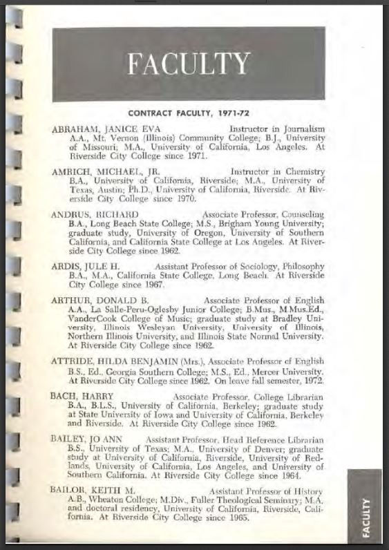1972-1972 Riverside City College Catalog