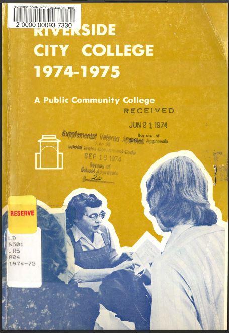 1974-1975 Riverside City College Catalog