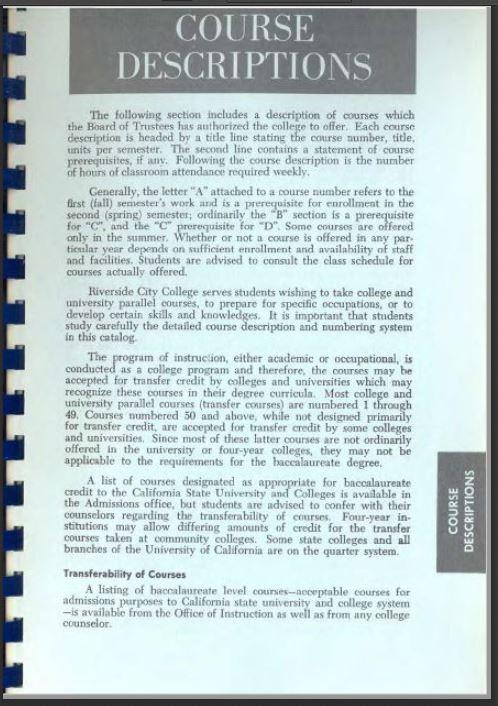 1975-1976 Riverside City College Catalog
