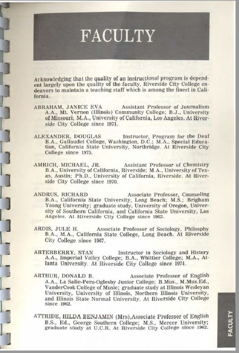 1976-19777 Riverside City College Catalog