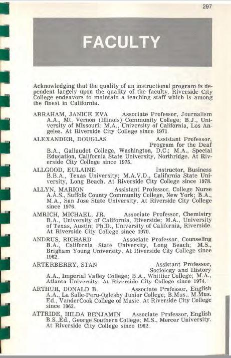 1999-2000 Riverside City College Catalog
